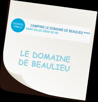 Camping Le Domaine de Beaulieu